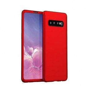 Husa 360 Protectie Totala Fata Spate pentru Samsung Galaxy S10, Rosie  - 1