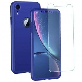 Husa 360 Protectie Totala Fata Spate pentru iPhone XR , Albastra  - 1