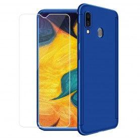 Husa 360 Protectie Totala Fata Spate pentru Samsung Galaxy A40 , Dark Blue  - 1