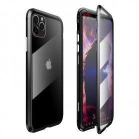 Husa Magnetica 360 cu sticla fata spate, pentru iPhone XI 11, Neagra  - 1