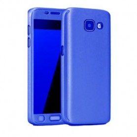 Husa 360 Protectie Totala Fata Spate pentru Samsung Galaxy A5 (2017) / A520, Dark Blue  - 1