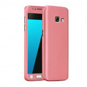 Husa 360 Protectie Totala Fata Spate pentru Samsung Galaxy A5 (2017) / A520, Rose Gold  - 1