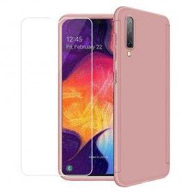 Husa 360 Protectie Totala Fata Spate pentru Samsung Galaxy A30s / A50 / A50s , Rose Gold  - 1