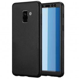 Husa 360 Protectie Totala Fata Spate pentru Samsung Galaxy A6 Plus (2018) , Neagra  - 1