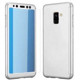 Husa 360 Protectie Totala Fata Spate pentru Samsung Galaxy A6 Plus (2018) , Argintie  - 1