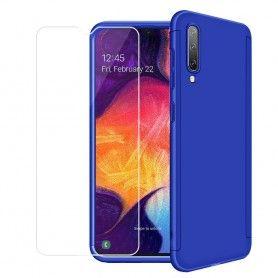 Husa 360 Protectie Totala Fata Spate pentru Samsung Galaxy A70 , Dark Blue  - 1