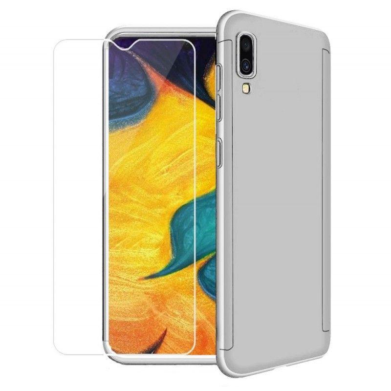 Husa 360 Protectie Totala Fata Spate pentru Samsung Galaxy A70 , Argintie  - 1