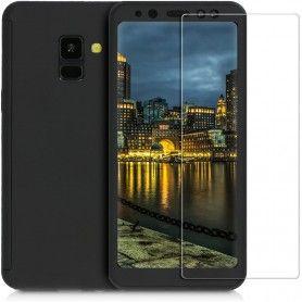 Husa 360 Protectie Totala Fata Spate pentru Samsung Galaxy A8+ Plus (2018) , Neagra  - 1