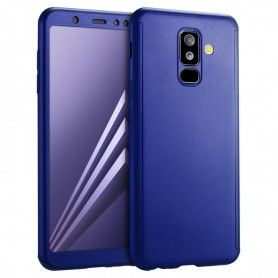 Husa 360 Protectie Totala Fata Spate pentru Samsung Galaxy A8+ Plus (2018) , Dark Blue  - 1