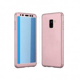 Husa 360 Protectie Totala Fata Spate pentru Samsung Galaxy A8+ Plus (2018) , Rose Gold  - 1