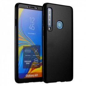 Husa 360 Protectie Totala Fata Spate pentru Samsung Galaxy A9 (2018) , Neagra  - 1