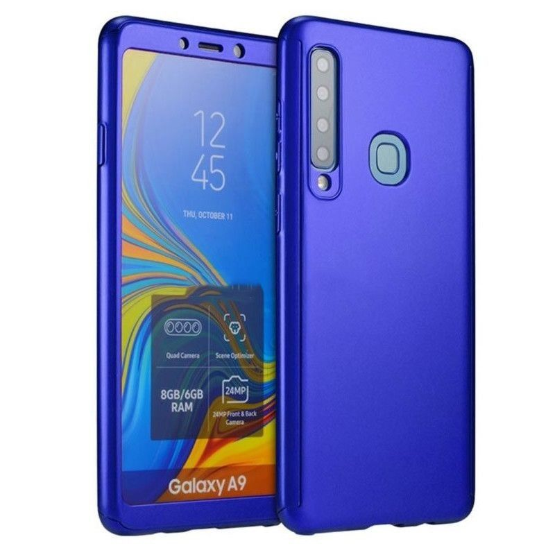 Husa 360 Protectie Totala Fata Spate pentru Samsung Galaxy A9 (2018) , Dark Blue  - 1