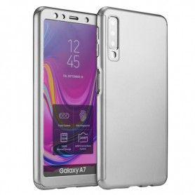 Husa 360 Protectie Totala Fata Spate pentru Samsung Galaxy A9 (2018) , Argintie  - 1