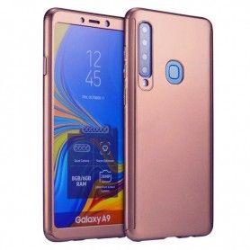 Husa 360 Protectie Totala Fata Spate pentru Samsung Galaxy A9 (2018) , Rose Gold  - 1