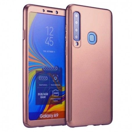 Husa 360 Protectie Totala Fata Spate pentru Samsung Galaxy A9 (2018) , Rose Gold la pret imbatabile de 45,00lei , intra pe PrimeShop.ro.ro si convinge-te singur