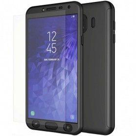 Husa 360 Protectie Totala Fata Spate pentru Samsung Galaxy J4 (2018) , Neagra  - 1