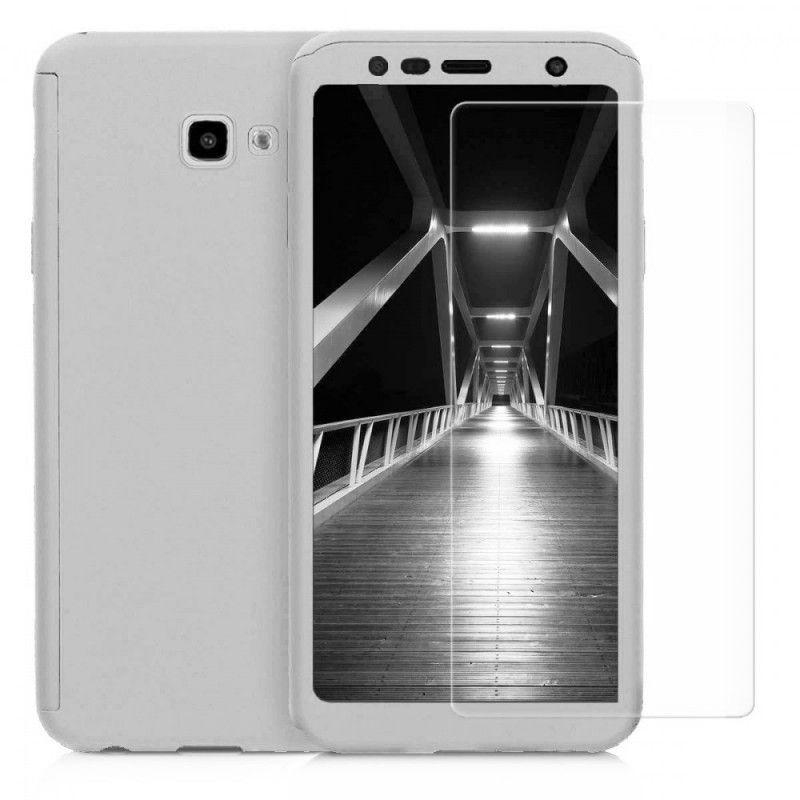 Husa 360 Protectie Totala Fata Spate pentru Samsung Galaxy J4 (2018) , Argintie  - 1