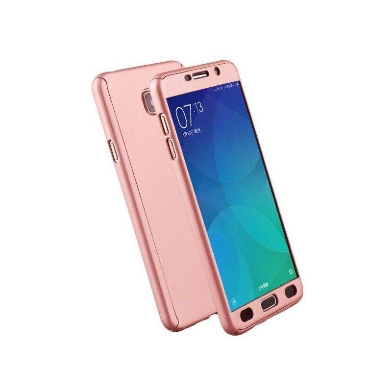 Husa 360 Protectie Totala Fata Spate pentru Samsung Galaxy J4 (2018) , Rose Gold  - 1