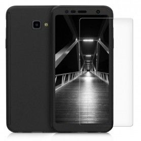 Husa 360 Protectie Totala Fata Spate pentru Samsung Galaxy J4+ Plus (2018) , Neagra  - 1