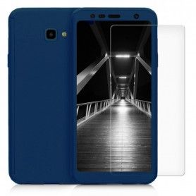 Husa 360 Protectie Totala Fata Spate pentru Samsung Galaxy J4+ Plus (2018) , Dark Blue  - 1