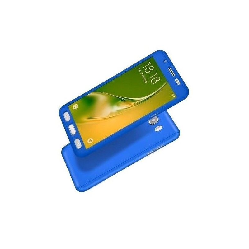 Husa 360 Protectie Totala Fata Spate pentru Samsung Galaxy J5 (2016) J510 , Dark Blue  - 1