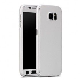 Husa 360 Protectie Totala Fata Spate pentru Samsung Galaxy J5 (2016) J510 , Argintie  - 1