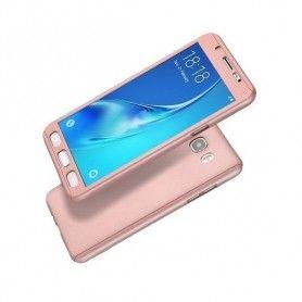 Husa 360 Protectie Totala Fata Spate pentru Samsung Galaxy J5 (2016) J510 , Rose Gold  - 1