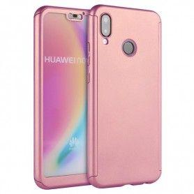 Husa 360 Protectie Totala Fata Spate pentru Huawei P Smart Z / Y9 Prime (2019), Rose Gold  - 1