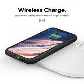 Husa Silicon iPhone XI 11, interior din microfibra, Roz  - 7