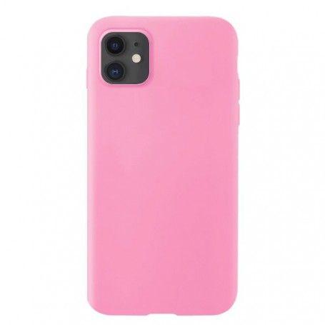Husa Silicon iPhone XI 11, interior din microfibra, Roz la pret imbatabile de 41,90lei , intra pe PrimeShop.ro.ro si convinge-te singur