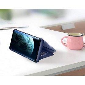 Husa tip carte pentru Samsung Galaxy A30s / A50 / A50s Flip Mirror Stand Clear View, Albastru  - 2