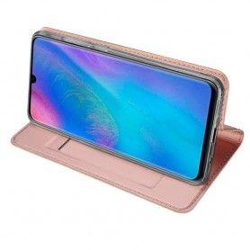 Husa Flip Tip Carte DuxDucis Skin Pro pentru Huawei P30 Lite, Rose Gold DuxDucis - 6
