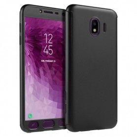 Husa 360 Protectie Totala Fata Spate pentru Samsung Galaxy J6 (2018) , Neagra  - 1