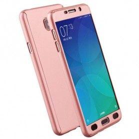 Husa 360 Protectie Totala Fata Spate pentru Samsung Galaxy J6 (2018) , Rose Gold  - 1