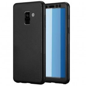 Husa 360 Protectie Totala Fata Spate pentru Samsung Galaxy J6+ Plus (2018) , Neagra  - 1