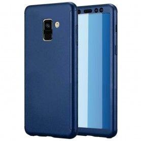 Husa 360 Protectie Totala Fata Spate pentru Samsung Galaxy J6+ Plus (2018) , Albastra  - 1