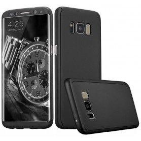 Husa 360 Protectie Totala Fata Spate pentru Samsung Galaxy S8, Neagra  - 1