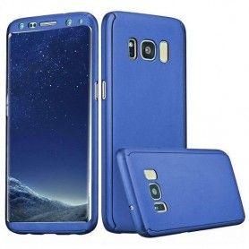 Husa 360 Protectie Totala Fata Spate pentru Samsung Galaxy S8, Dark Blue  - 1