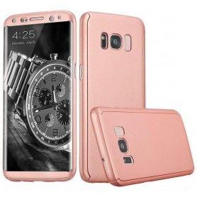 Husa 360 Protectie Totala Fata Spate pentru Samsung Galaxy S8, Rose Gold  - 1