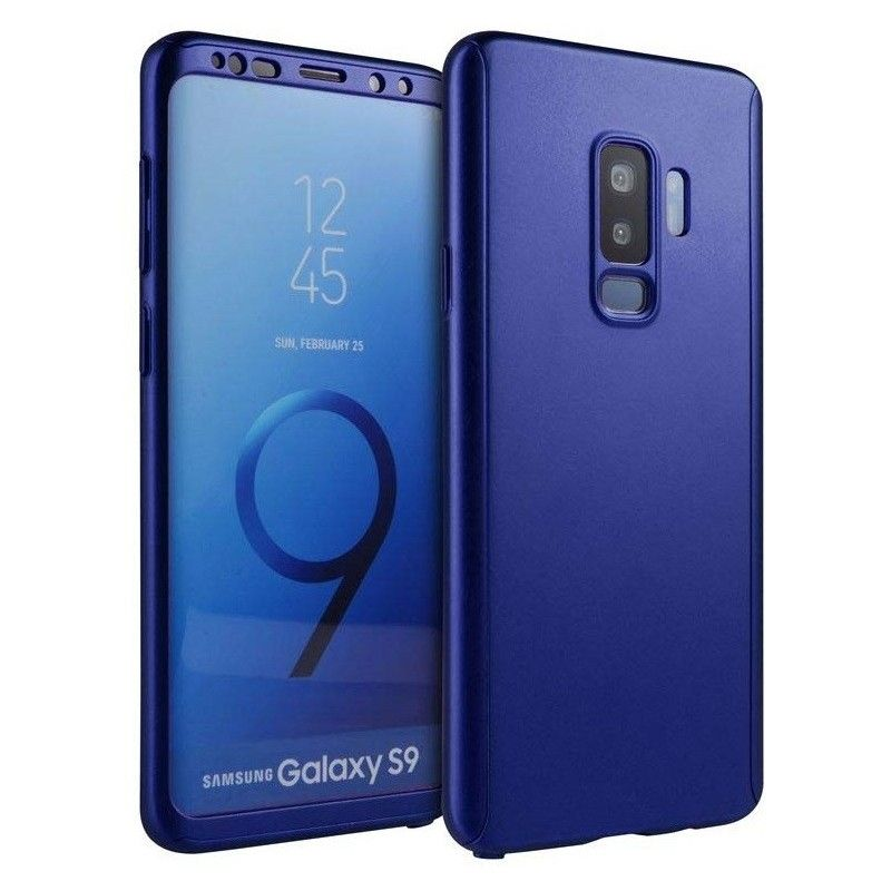 Husa 360 Protectie Totala Fata Spate pentru Samsung Galaxy S9, Dark Blue  - 1