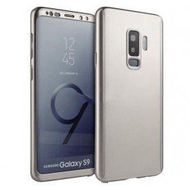 Husa 360 Protectie Totala Fata Spate pentru Samsung Galaxy S9, Argintie  - 1