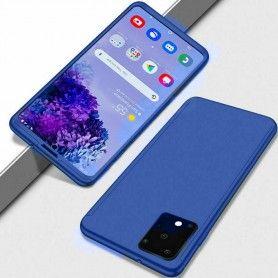 Husa 360 Protectie Totala Fata Spate pentru Samsung Galaxy A71, Dark Blue  - 1