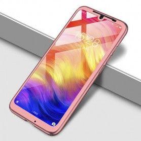Husa 360 Protectie Totala Fata Spate pentru Samsung Galaxy A71, Rose Gold  - 1