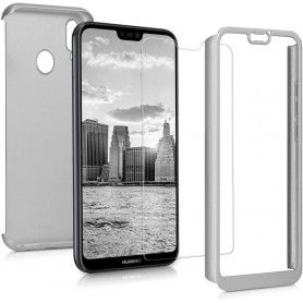Husa 360 Protectie Totala Fata Spate pentru Huawei Mate 20 Lite , Argintie  - 1