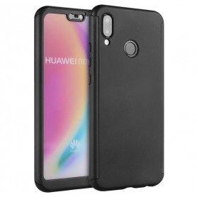 Husa 360 Protectie Totala Fata Spate pentru Huawei P20 Lite , Neagra  - 1