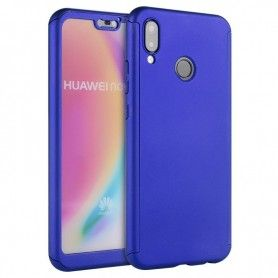 Husa 360 Protectie Totala Fata Spate pentru Huawei P20 Lite , Dark Blue  - 1