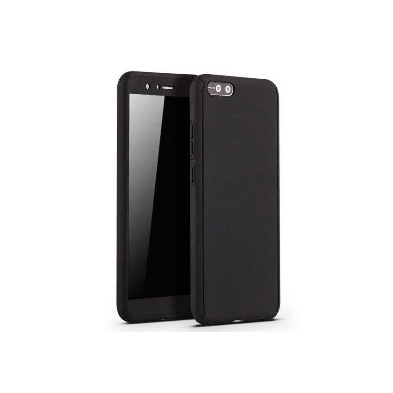 Husa 360 Protectie Totala Fata Spate pentru Huawei Y5 (2018) / Y5 Prime (2018), Neagra  - 1