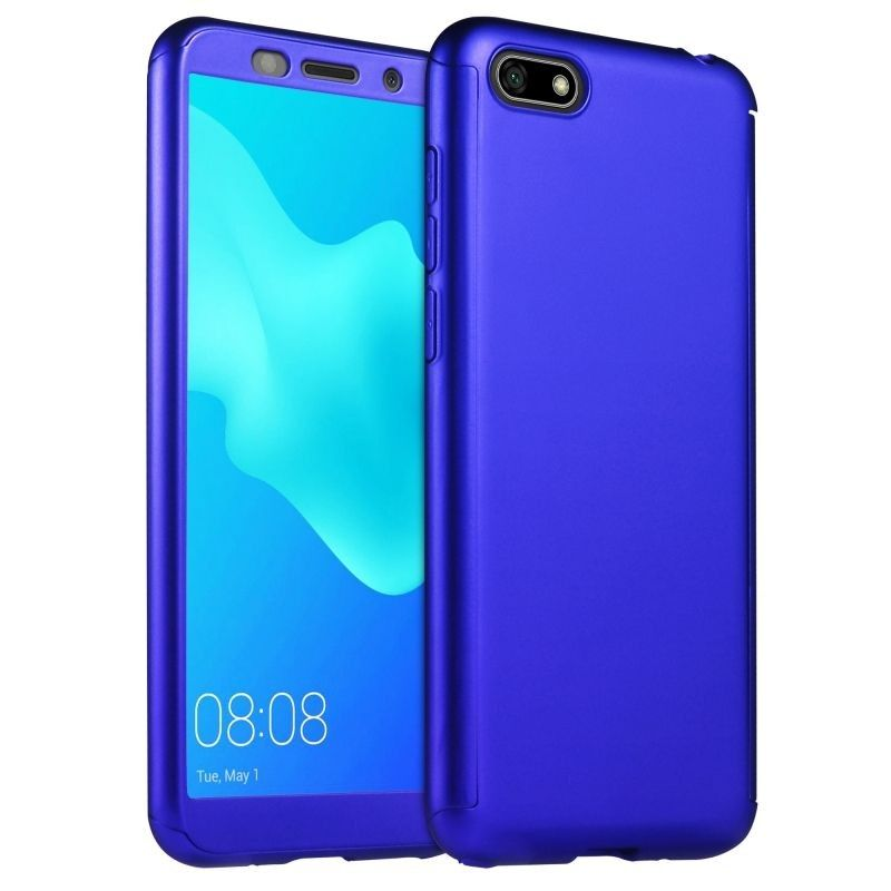 Husa 360 Protectie Totala Fata Spate pentru Huawei Y5 (2018) / Y5 Prime (2018), Dark Blue  - 1