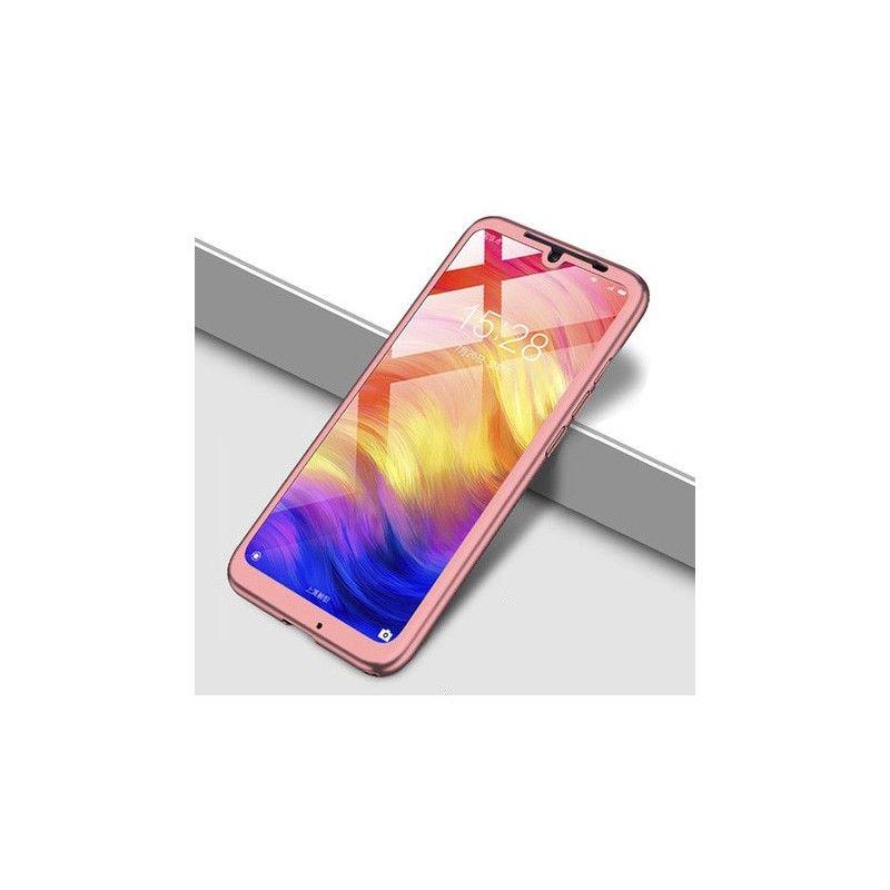 Husa 360 Protectie Totala Fata Spate pentru Huawei Y9 2019 , Rose Gold  - 1
