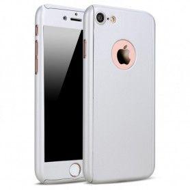 Husa 360 Protectie Totala Fata Spate pentru iPhone 5 / 5S / SE , Argintie  - 1